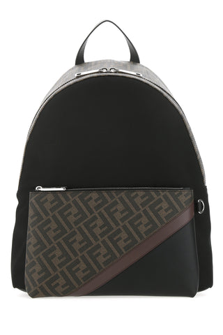 Fendi FF Monogram Diagonal Printed Backpack