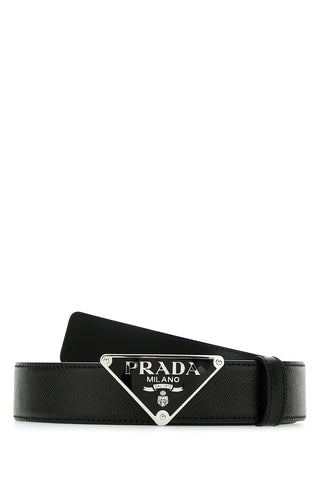Prada Logo Buckle Belt