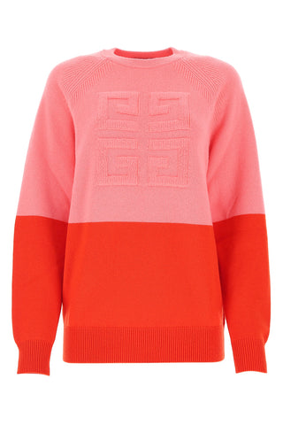 Givenchy 4G Emblem Two-Tone Sweater