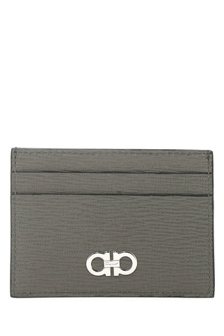 Salvatore Ferragamo Gancini Two Tone Card Holder