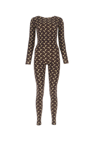 Marine Serre All Over Half Moon Print Jumpsuit