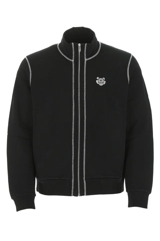 Kenzo Tiger Motif Zip Up Sweatshirt