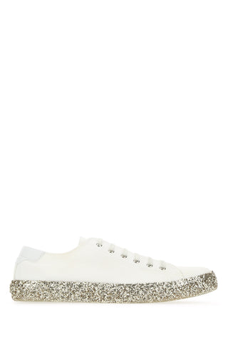 Saint Laurent Glittered Sole Sneakers