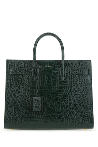 Saint Laurent Logo Embossed Tote Bag