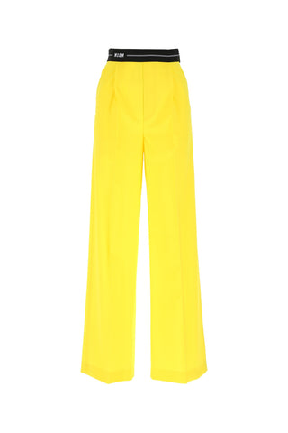 MSGM Logo Band Wide-Leg Trousers