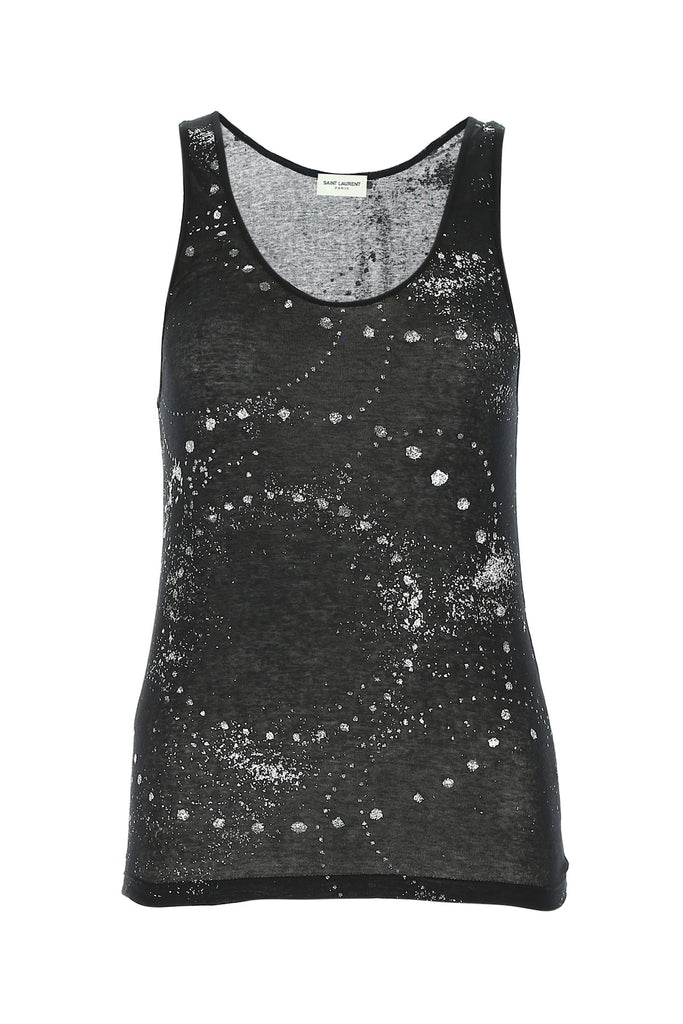 Saint Laurent Glitter Embellished Tank Top