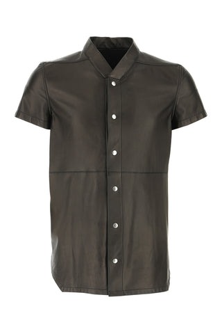 Rick Owens Buttoned Leather Shirt