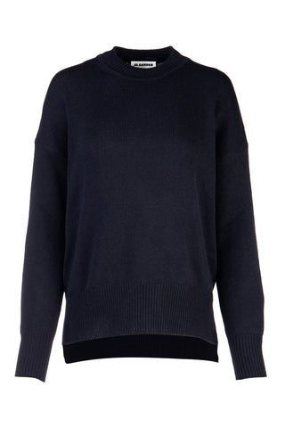 Jil Sander Oversized Ribbed Crewneck Sweater