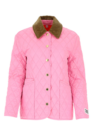 Burberry Corduroy Collar Diamond Quilted Jacket