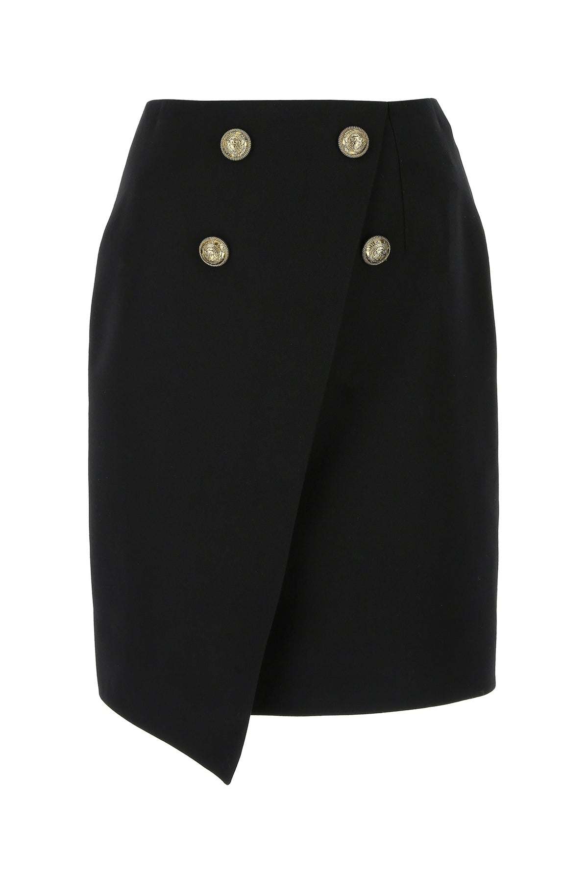 Balmain Cottons BALMAIN ASYMMETRIC MINI SKIRT
