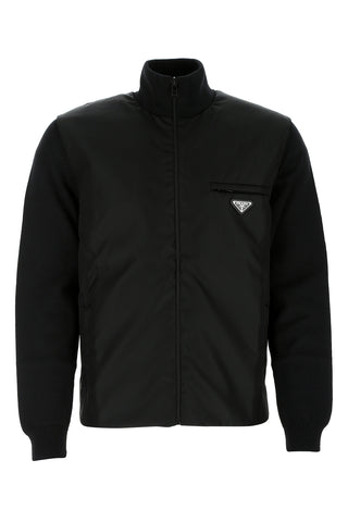 Prada Logo Zipped Jacket