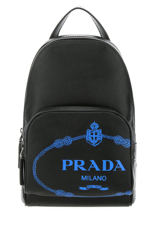 Prada Logo Motif One-Shoulder Backpack