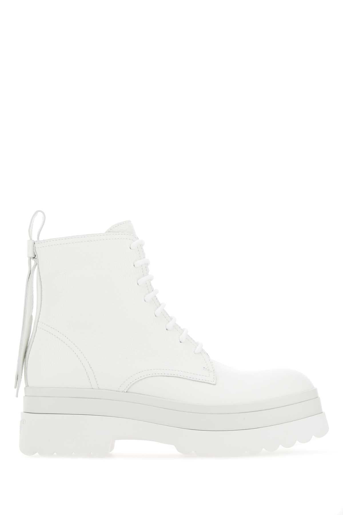 Red Valentino Leathers REDVALENTINO BOW DETAIL COMBAT BOOTS