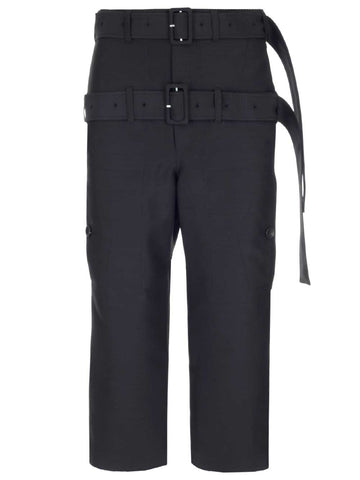 Lanvin Double Belt Cropped Pants