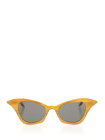 Gucci Eyewear Curved Cat Eye Frame Sunglasses