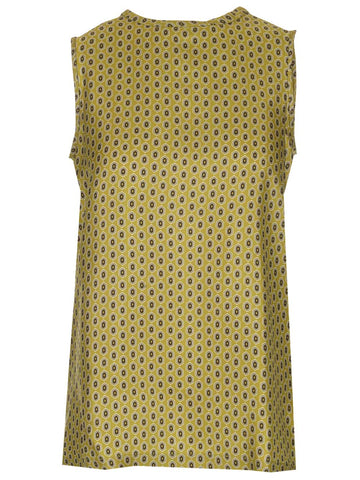 'S Max Mara Sleeveless Printed Twill Top