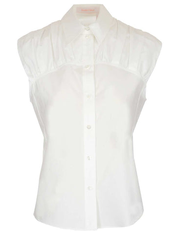 See By Chloé Gathered Detail Sleeveless Shirt
