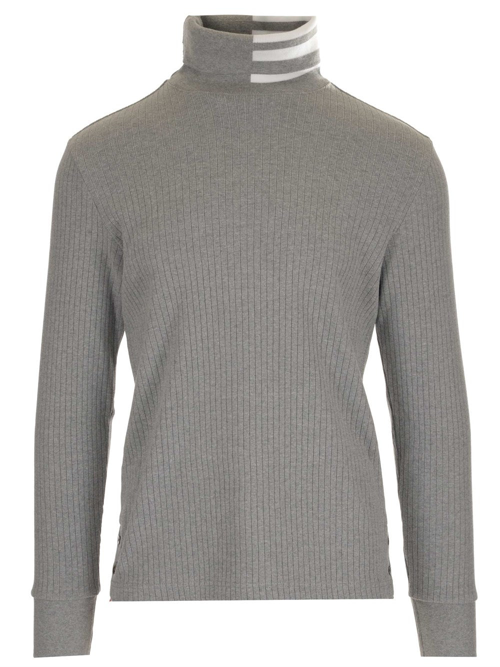 Thom Browne Cottons THOM BROWNE STRIPE DETAILED TURTLENECK SWEATER