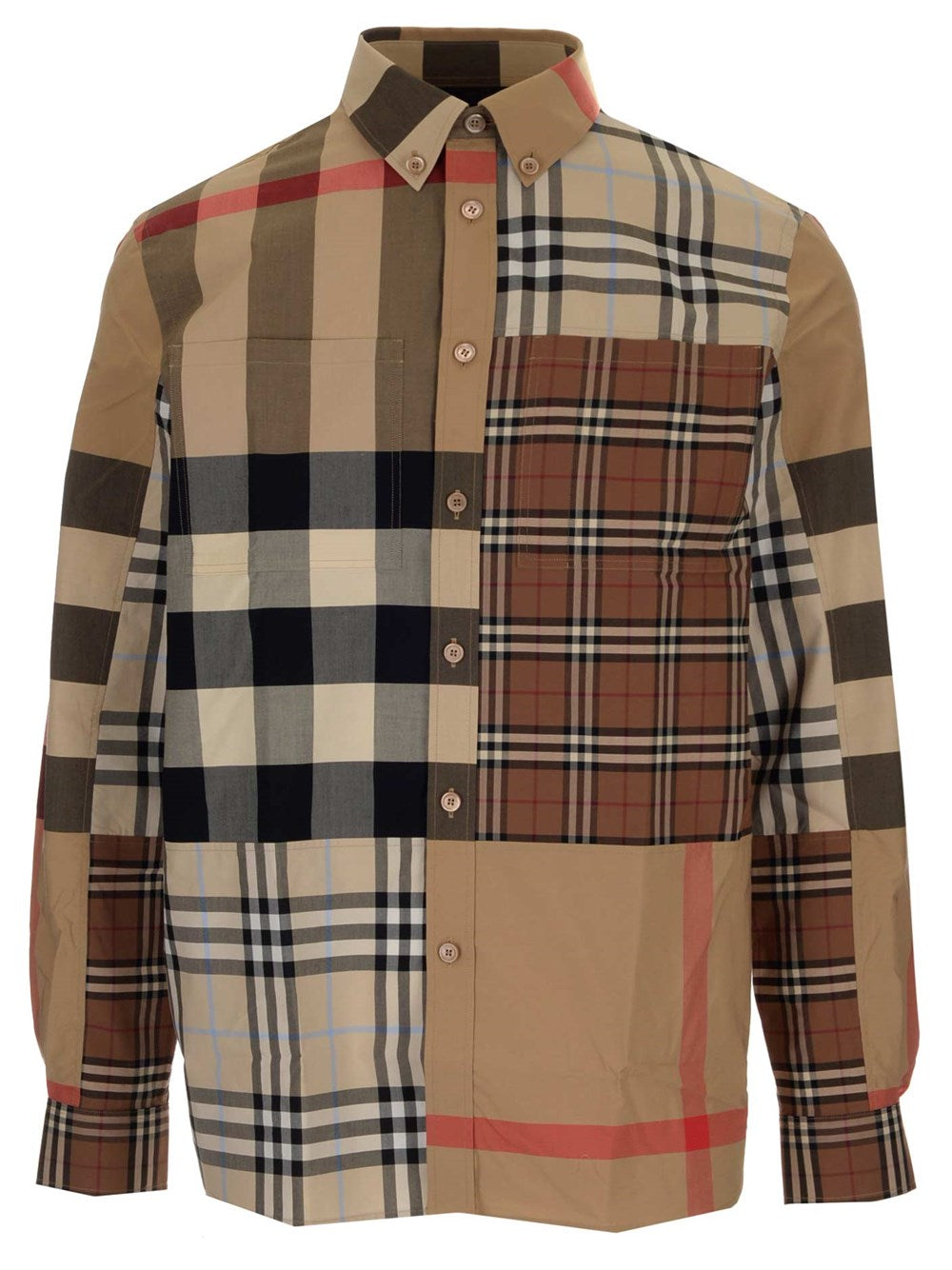 Burberry Cottons BURBERRY VINTAGE CHECK PANELLED SHIRT