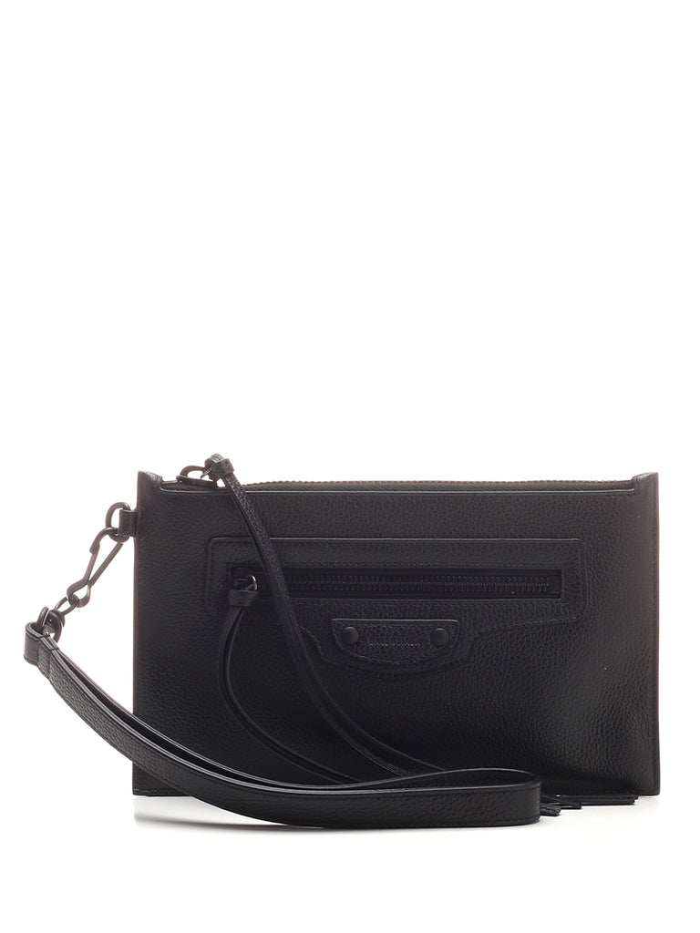 Balenciaga Neo Classic Clutch Bag In Black