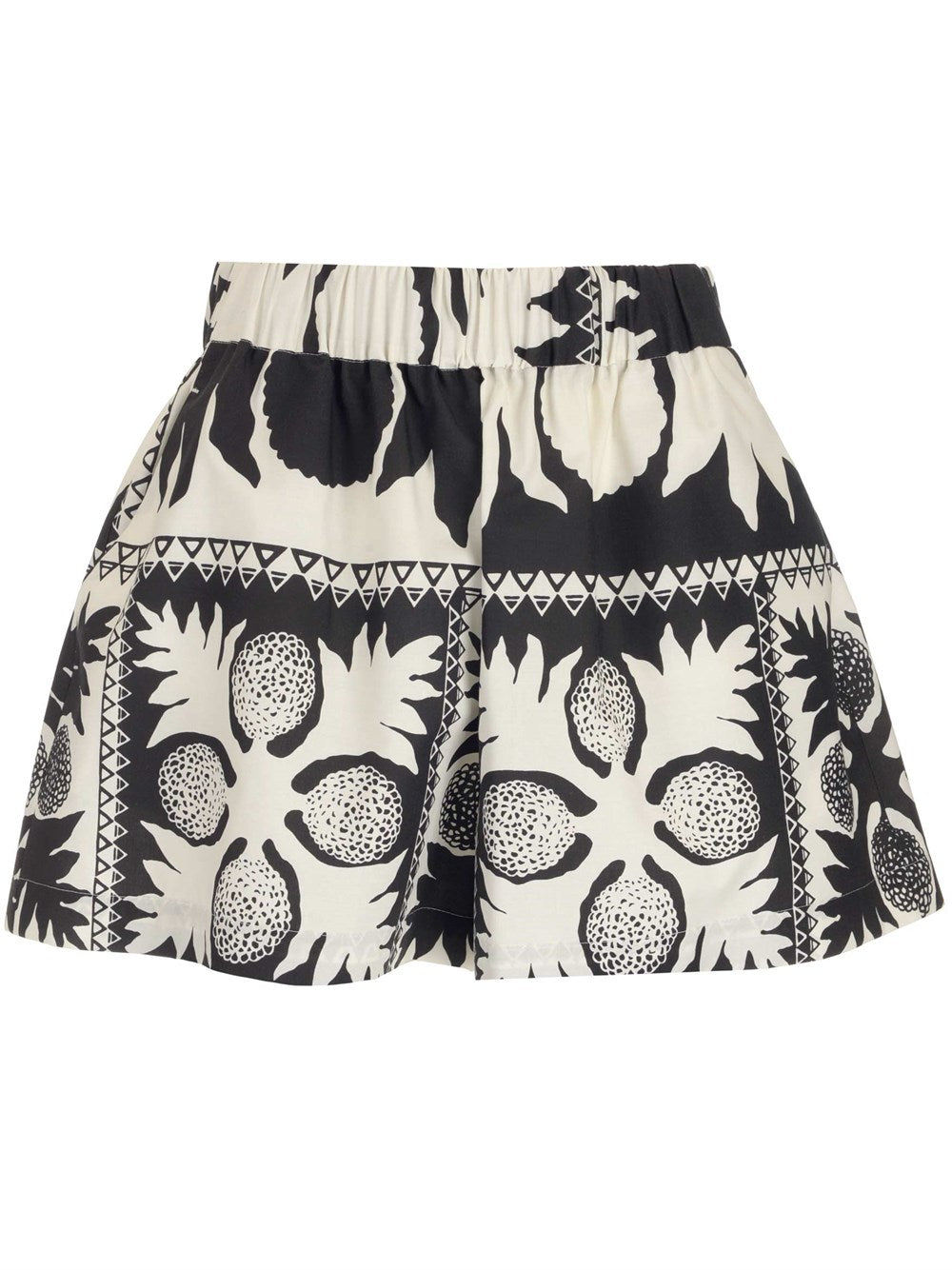 Red Valentino Cottons REDVALENTINO FLORAL PRINTED SHORTS