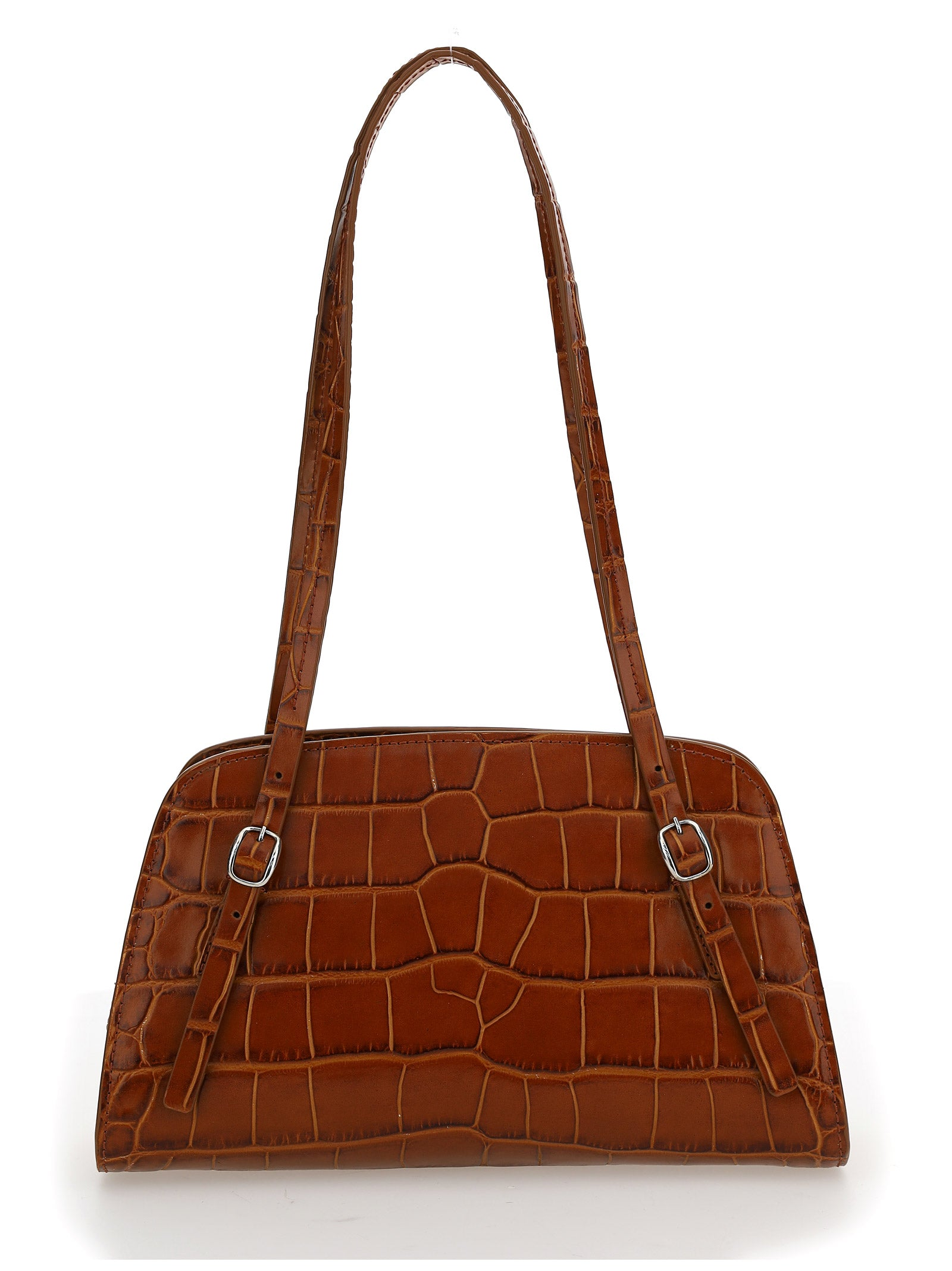 By Far BY FAR LORA EMBOSSED SHOULDER BAG