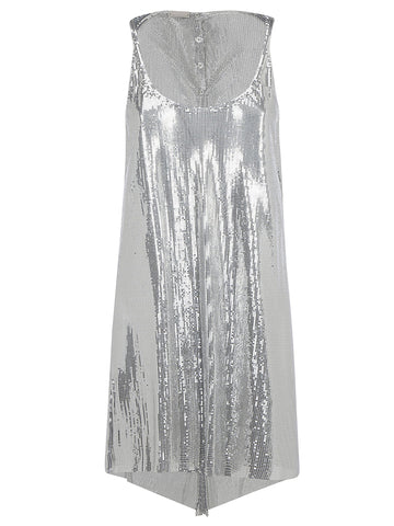 Paco Rabanne Metallic Effect Dress