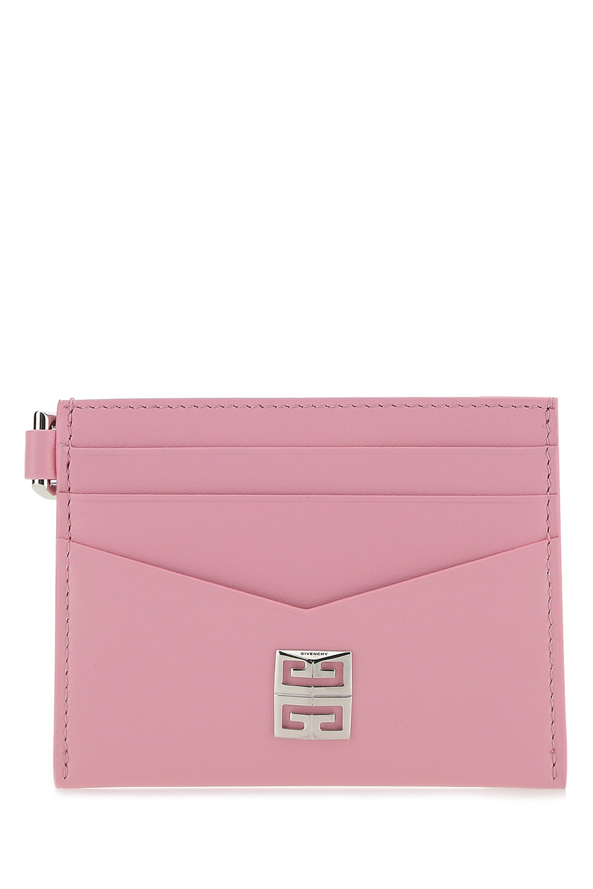 Givenchy 4g Plaque Cardholder In Pink