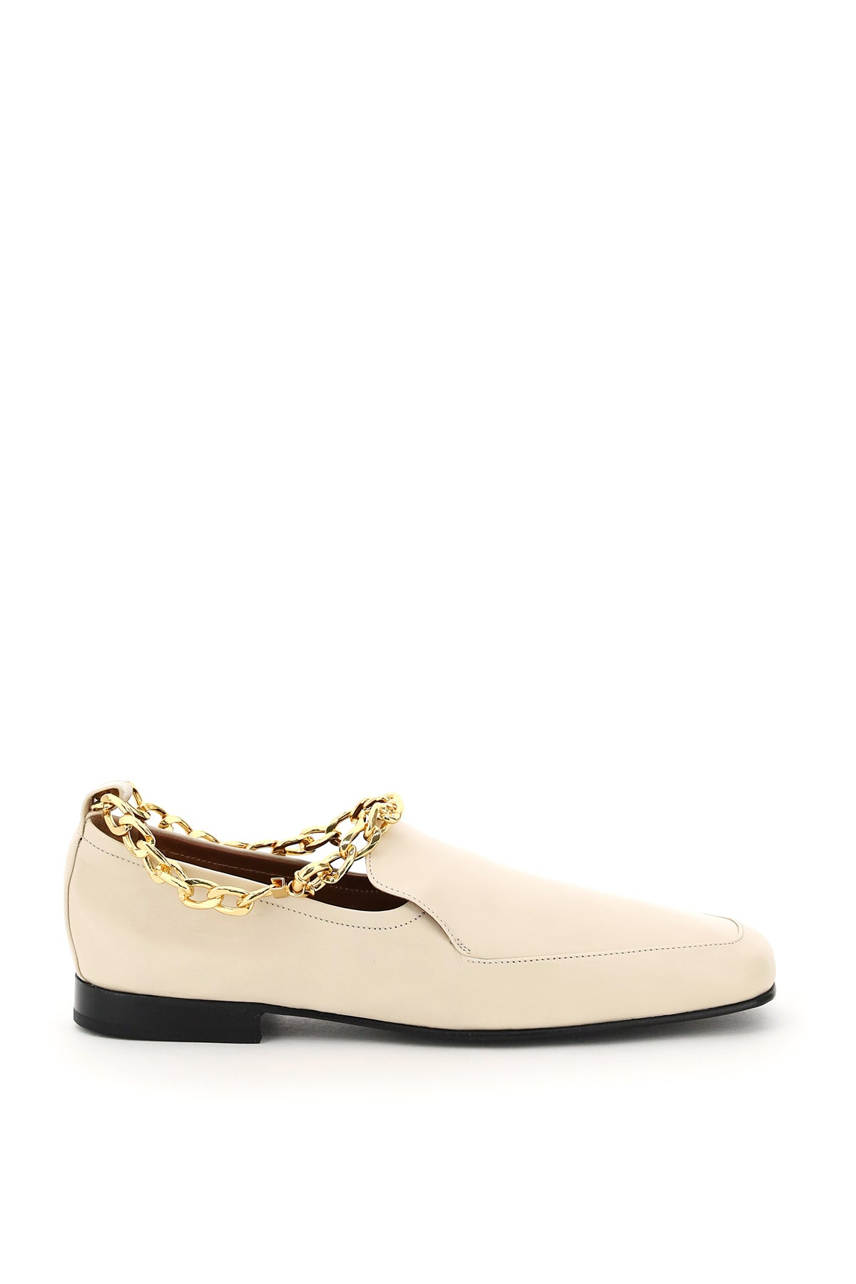 By Far Leathers BY FAR NICK CHAIN LOAFERS