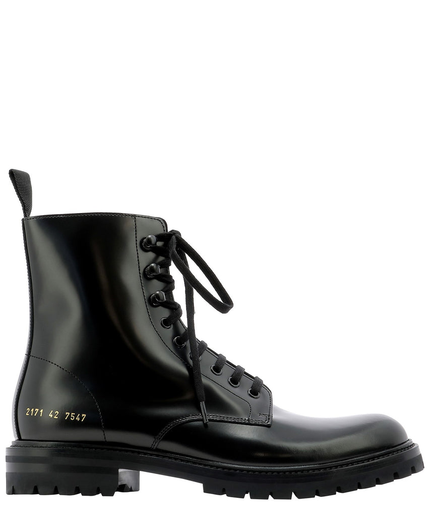 common projects black combat boots