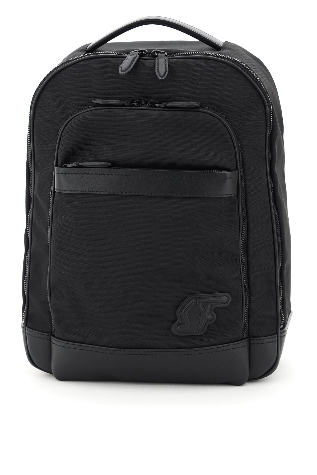 Salvatore Ferragamo SALVATORE FERRAGAMO SF LOGO PATCH BACKPACK