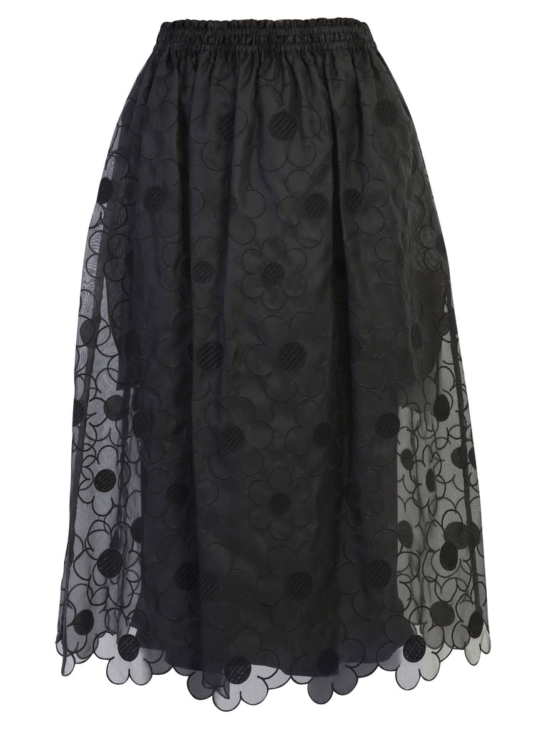 Moncler Genius Skirts MONCLER X SIMONE ROCHA FLORAL EMBROIDERED SKIRT