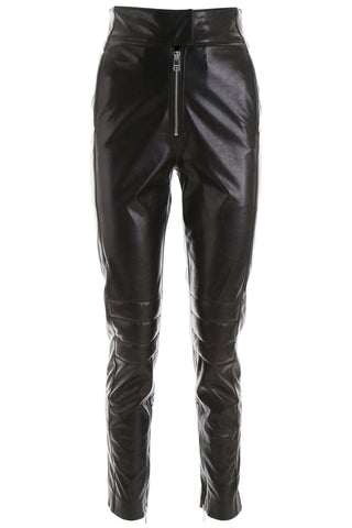 MSGM High-Waisted Zipped Trousers
