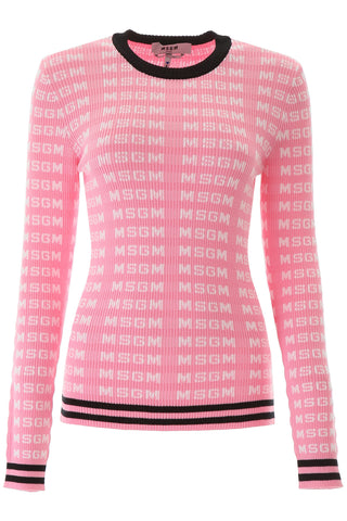 MSGM Allover Logo Sweater