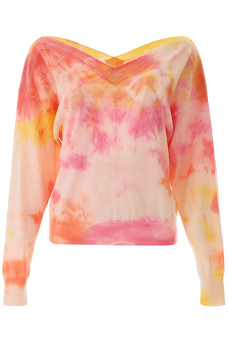 MSGM Tie-Dye V-Neck Sweater