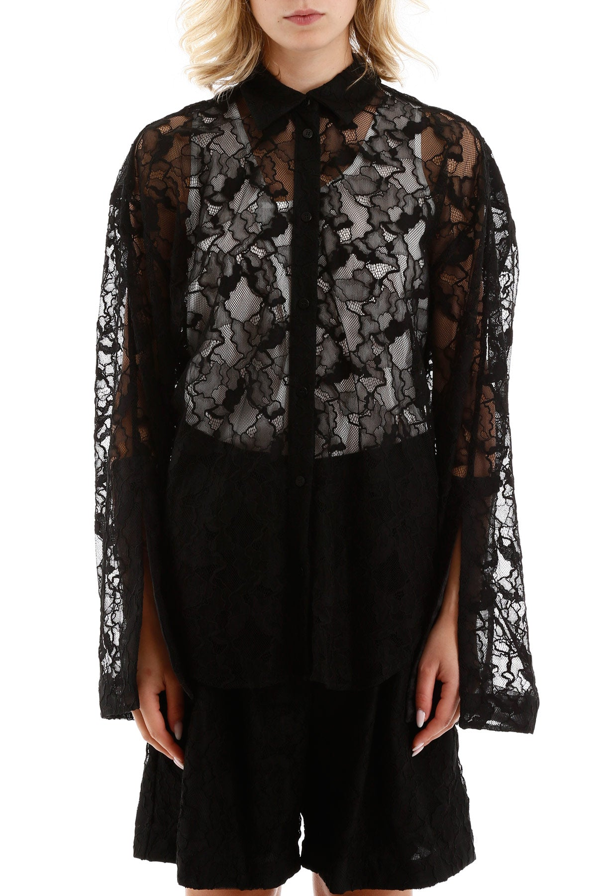 Msgm MSGM LACE SHEER SHIRT