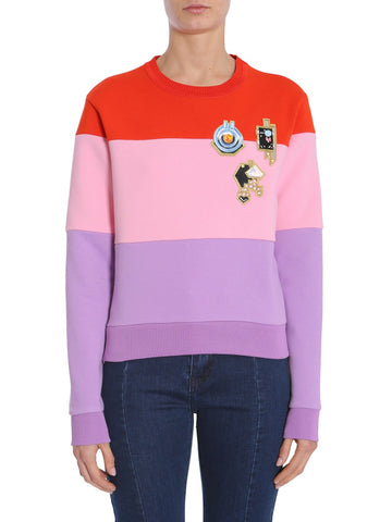 Carven Embroidered Colour-Block Sweatshirt