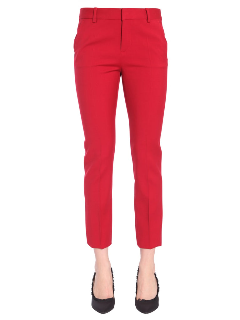 Dsquared2 Classic Tapered Trousers In Red