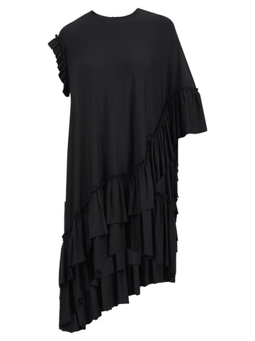 Simone Rocha Asymmetric Ruffled Top