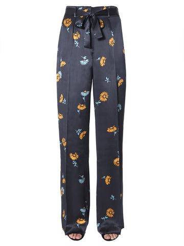 Equipment Floral Print Flared Trousers