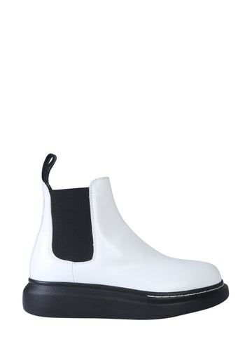 Alexander McQueen Two Tone Ankle Boots