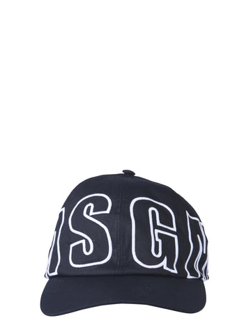 MSGM Logo Embroidered Baseball Cap
