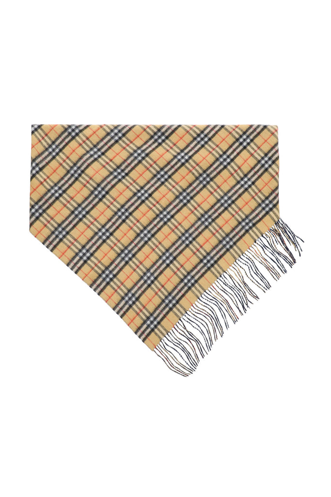 Burberry BURBERRY VINTAGE CHECK FRINGED SCARF