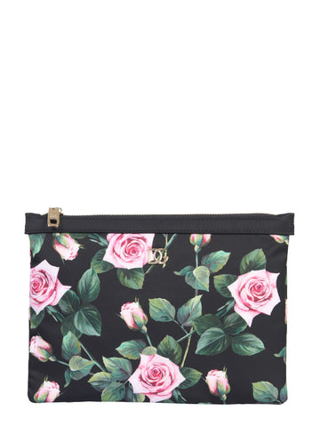 Dolce & Gabbana Tropical Rose Print Beauty Case