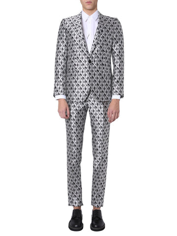 Dolce & Gabbana Allover Logo Two-Piece Suit