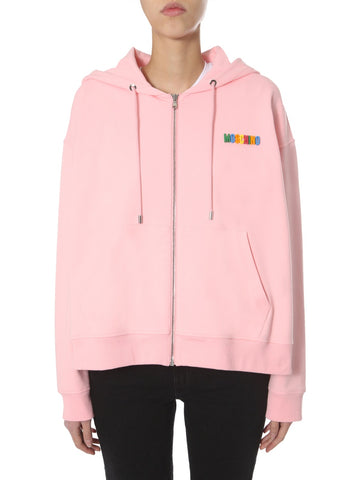 Moschino Lettering Logo Hooded Jacket