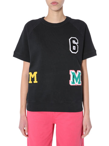 Mm6 Maison Margiela Logo Patchwork T-Shirt