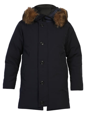 Moncler Fur Trimmed Quilted Jacket
