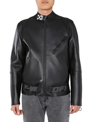 Off-White Arrows Printed Leather Jacket