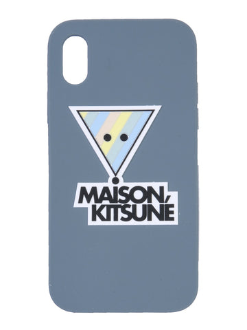 Maison Kitsuné 3D Rainbow Triangle Fox iPhone X Cover